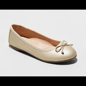 Cat & Jack - Girls' Stacy Ballet Flats Size 5